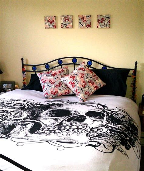 skull bedroom curtains 377 best skull decor images on pinterest