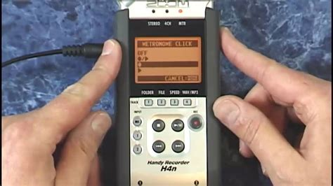 Video Tutorial Zoom H4n   zoom h4n tutorial review adding a metronome click youtube