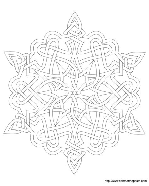 don t eat the paste snowflake coloring page
