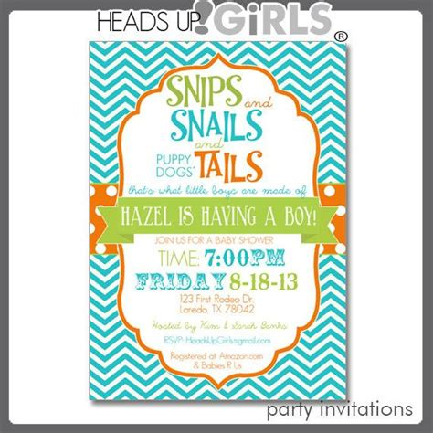 Snips And Snails And Puppy Tails Baby Shower by 1000 Images About Cool Baby Shower On