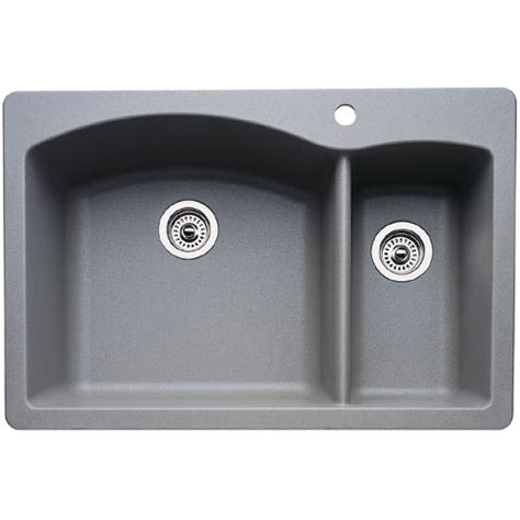 Ferguson Kitchen Sinks B440198 White Color Bowl Kitchen Sink Metallic Gray At Shop Ferguson