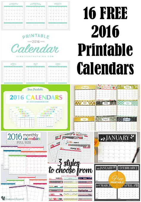 free printable year planner 2015 16 16 free 2016 printable calendar