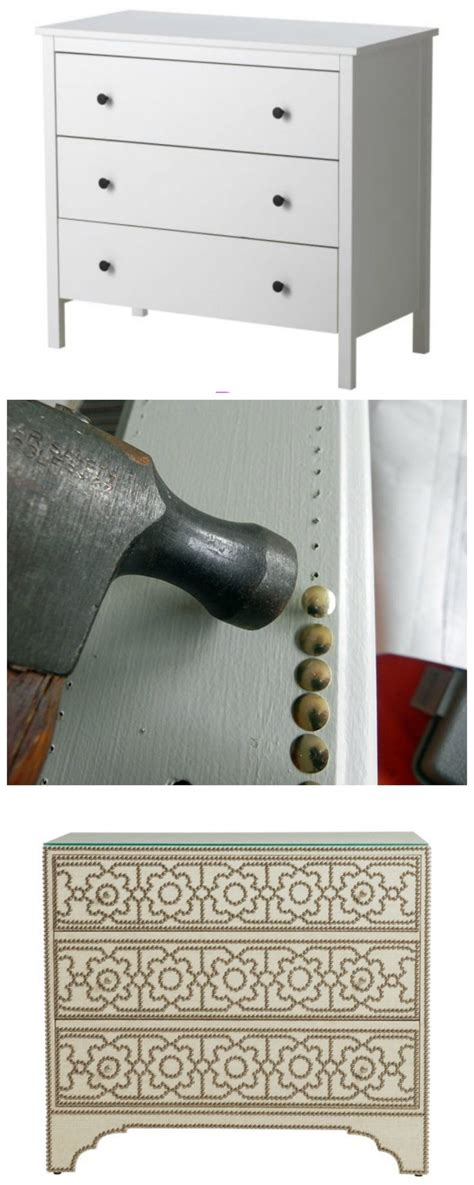 using upholstery tacks use upholstery tacks to upgrade a plain piece of furniture