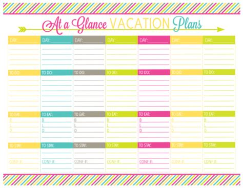 Vacation Planning Calendar Template free printable vacation planner pages calendar template 2016