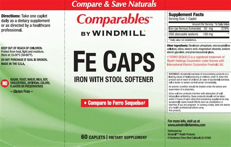 Is It Safe To Take A Stool Softener Every Day by Fe Caps With Stool Softener Windmill Vitamins