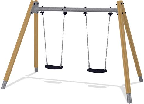 swinging h double swing pine h 2 0m 90cm in ground ksw90010 0902