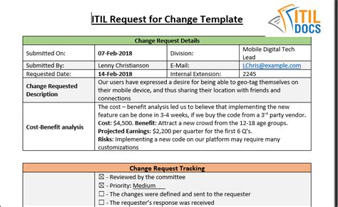 change management itil docs