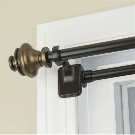 tension rod for curtains double tension rod archives altmeyer s bedbathhome blog