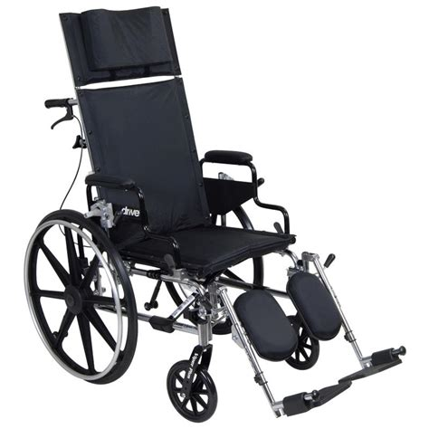 Reclining Back Wheelchair by Drive Viper Plus Reclining Wheelchair With Flip Back