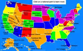 united states map of national parks united states national parks for