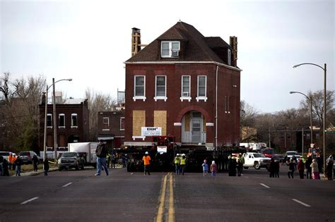 house movers missouri st louis moves 3 story house out of nga site st louis public radio