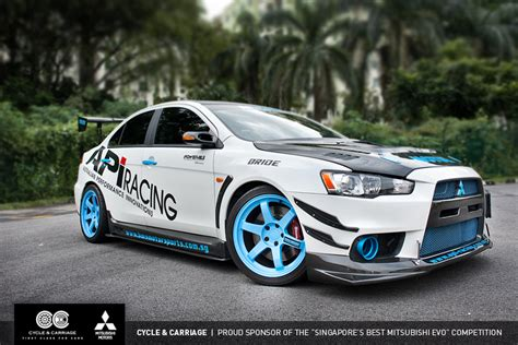 mitsubishi singapore tuned mitsubishi lancer evo x rocks singapore autoevolution