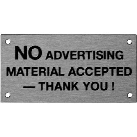 8 Signs That You Are Material by Sandleford 95 X 47mm No Advertising Material Stainless