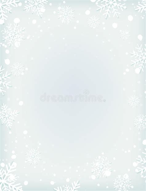 blank snowflake template blank winter background with snow and snowflakes stock vector image 78542628