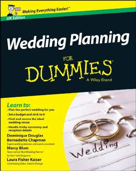 Wedding Planner For Dummies by Wedding Planning For Dummies Written For Uk Brides And