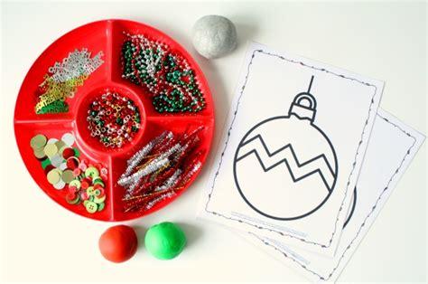 play dough xmas ornaments free printable ornament play dough mats fantastic learning
