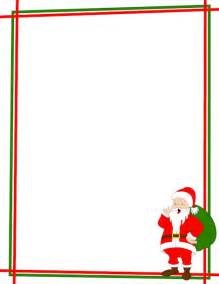 Christmas page border with santa claus in the bottom right corner