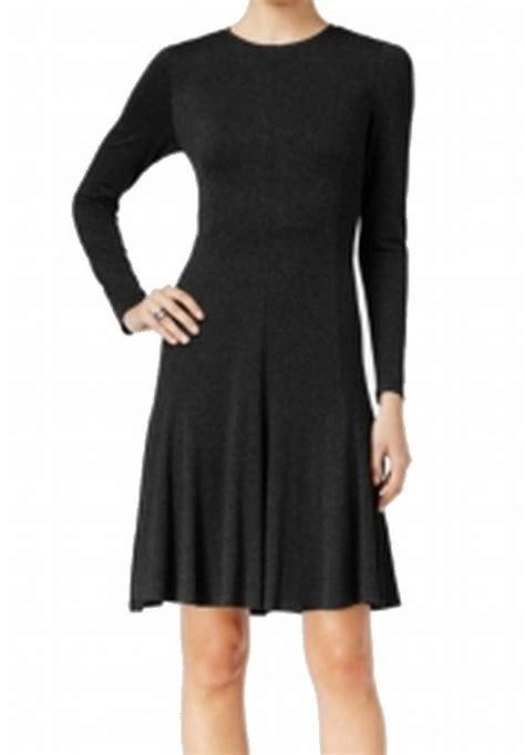 Ws Size 6 27rb Spandex Rayon hilfiger new black womens size 6 a line jersey sheath dress 99 180 ebay