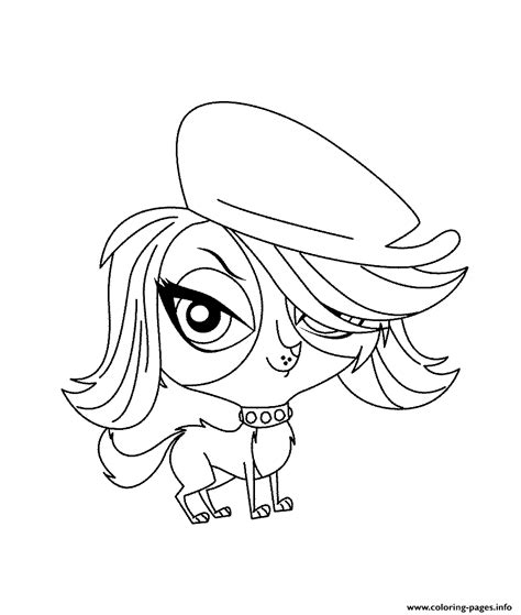 littlest pet shop coloring pages zoe www imgkid com