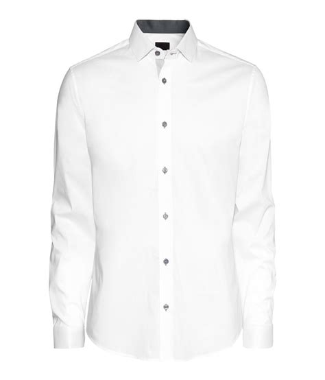 White Shirt Lyst by Lyst H M Slimfit Shirt In White For