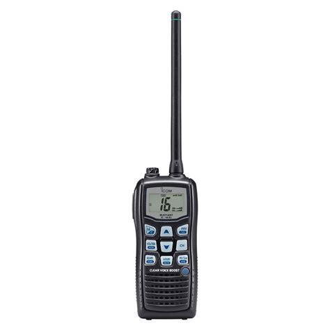 rugged marine icom ic m35 handheld rugged marine vhf transceiver buoyant clear audio boost sustuu