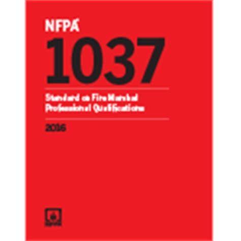Kode B 1037 buy nfpa 1037 standard on marshal professional