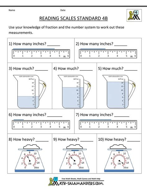 reading measurements worksheet 462 best images about maths measurement on gallon units of measurement and