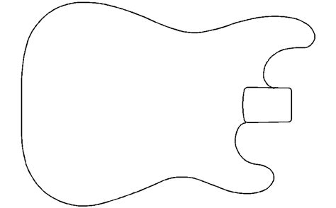 stratocaster template best guitar outline 9486 clipartion
