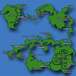 Ff1 World Map by Final Fantasy I World Map Caves Of Narshe
