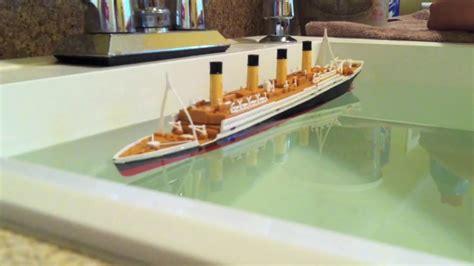 Titanic Sinking Model by R M S Titanic Model Sinking