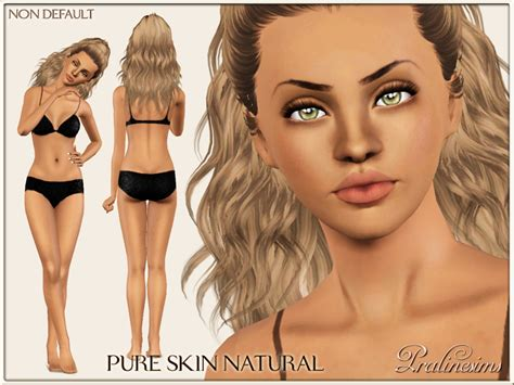 Sims 3 Cc Skin Color | pralinesims pure skin natural non default