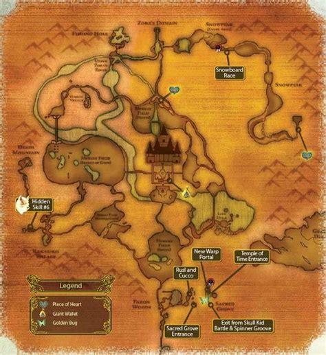 legend of zelda map of hyrule map of hyrule in twilight princess wii version nerd