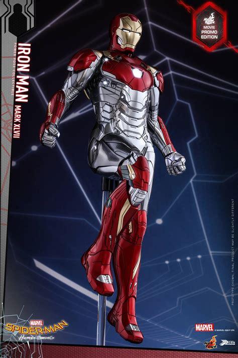 hot toys spider man homecoming iron man mk xlvii spider man homecoming iron man mark xlvii power pose