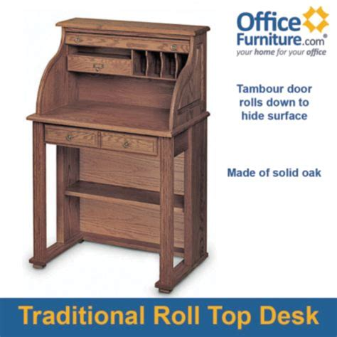 Compact Wooden Desk Compact Solid Wood Roll Top Writing Desk 29w