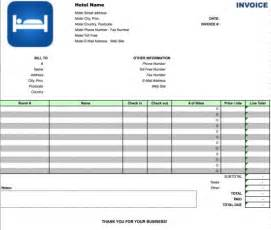 accommodation invoice template free hotel invoice template excel pdf word doc