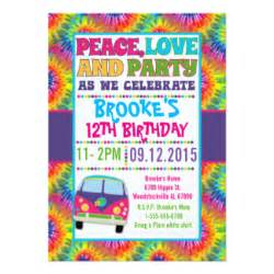 hippies 60s birthday cards hippies 60s birthday card templates invitations photo cards more
