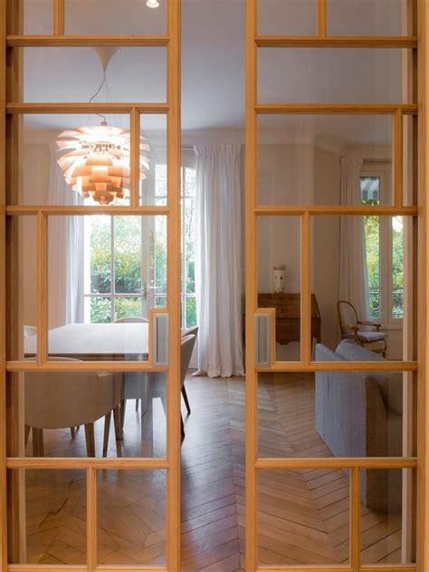 Porte Coulissante Cuisine Salon 3502 by Portes Vitr 233 Es Coulissantes Aux Menuiseries En Bois Design