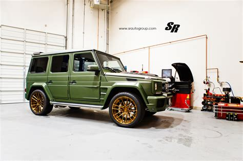 mercedes g wagon green military green brabus g63 amg by sr auto group