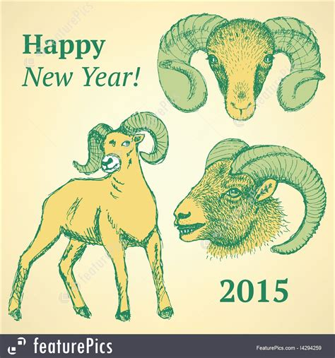 new year ram new year ram stock illustration i4294259 at featurepics