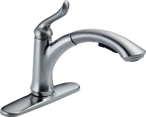 delta linden kitchen faucet delta 4353 ar dst arctic stainless linden pull out kitchen faucet with temporary flow increase