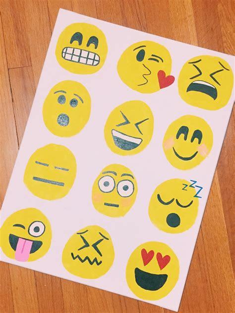 paint emoji diy emoji canvas my only sunshine