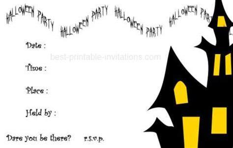 free printable halloween invitations black white kids halloween invitations printable festival collections