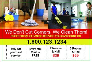 cleaning service postcard marketing designsnprint