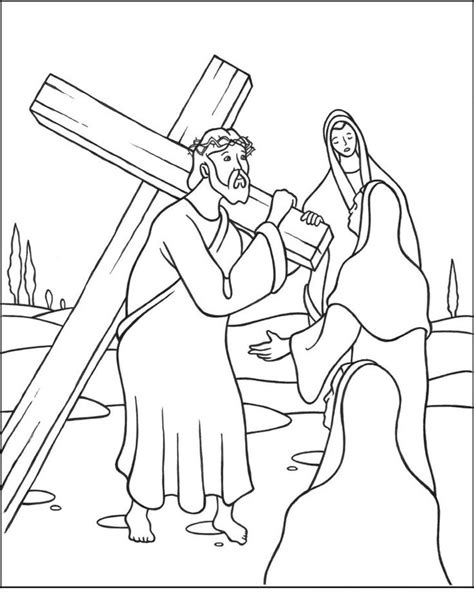 coloring pages coloring pages jesus stations