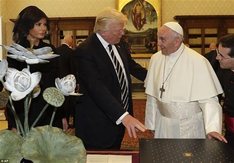 trump pope francis trump meets the pope at the vatican for a private audience