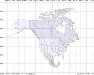 map of america with latitude and longitude grid