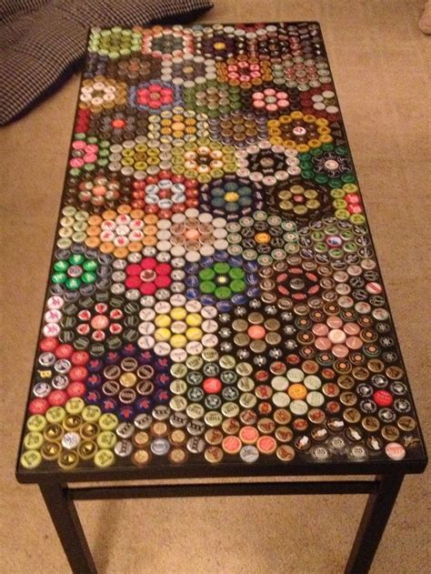 our bottle cap table finally finished eisa so i made