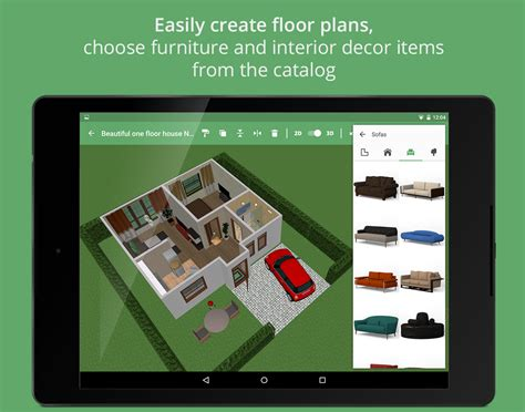 Tablet Ww One android users can create floorplans and interior designs easily