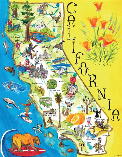 map california usa maps update 1300989 california tourist attractions map
