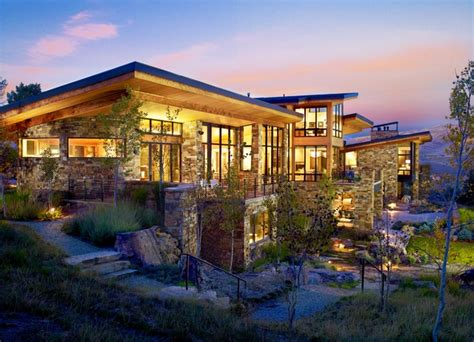 Mountainside Home Plans by Vail Valley Mountain Contemporary Contemporary